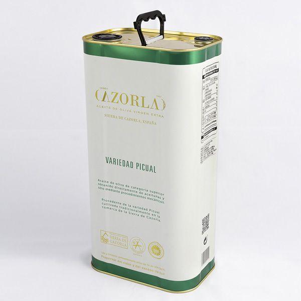 Aceite de Oliva Picual. Pack de 4 latas de 5L